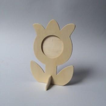 Holzrahmen-Fotoblume zum Selbstgestalten