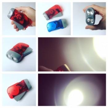 LED-Taschenlampe mit Dynamo-Funktion