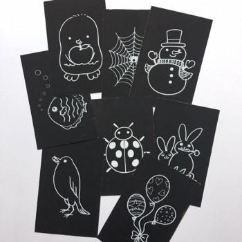 Motiv-Kratzkarten, Rubbelkarten