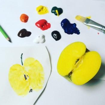 Druckteckniken mit Bastelfarbe