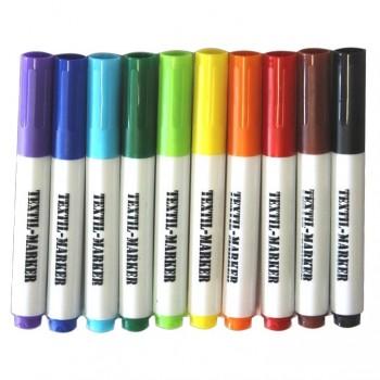 Textilmarker 10er Pack / Stift ab 0,39 €