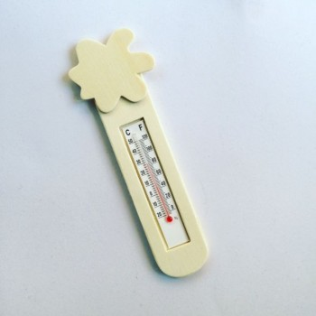 Holz Thermometer Blume
