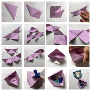 Dreieck-Triangel-Box zum Falten