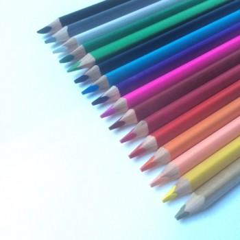 Dreikant-Buntstifte, Einzelfarben, 25er Set
