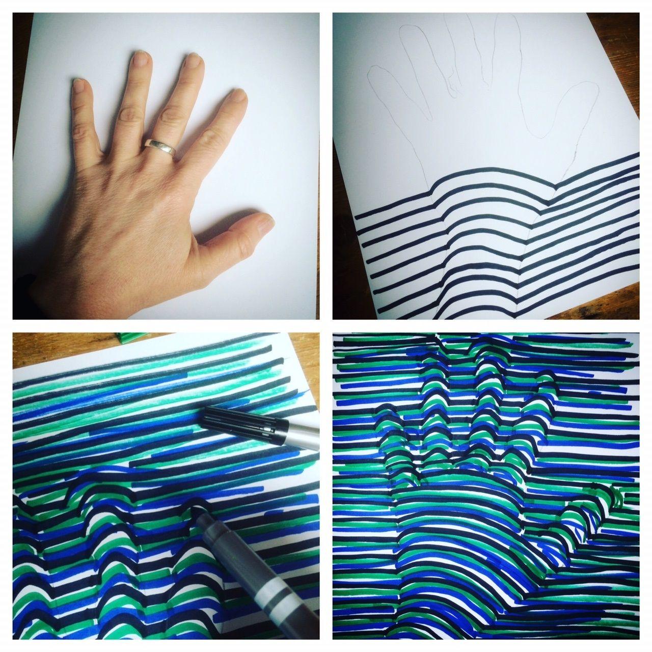 3d Hand Zeichnen Optische Täuschung Bilderanleitung Link