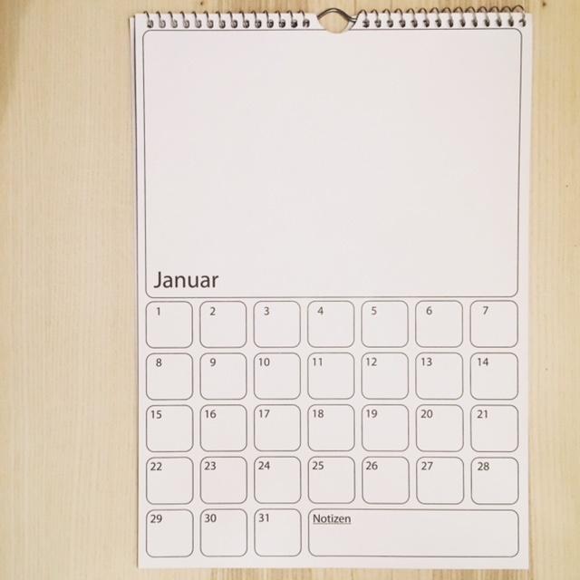 a4 dauer kalender zum selbstgestalten 0400500. Black Bedroom Furniture Sets. Home Design Ideas