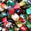 Perlmuttchips und -perlen