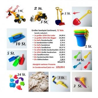 Großes Sandspiel-Sortiment 72 Teile