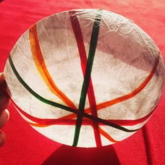 Seidenpapier-Windlichter oder Schalen