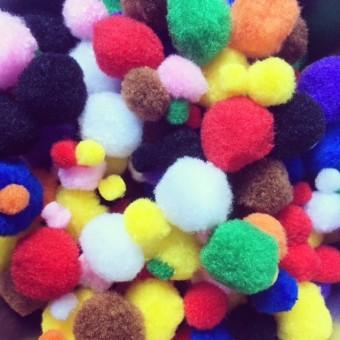 Pompons, Plüschjuwelen 300 Stück