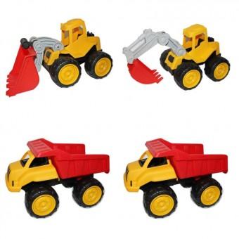 Aktiv-Sandfahrzeuge 4er-Set