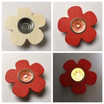 Teelichthalter Blume, Blumenlicht