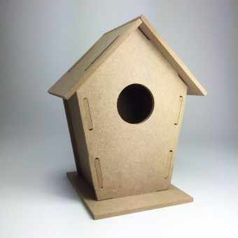 Nistkasten / Vogelhäuschen Bastelset zum Selbstgestalten