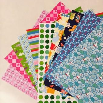 Motiv-Origami-Blätter 15x15